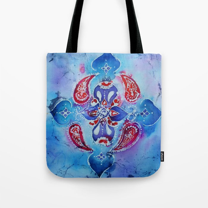 Indian Style Batik Pillow Case Design Tote Bag