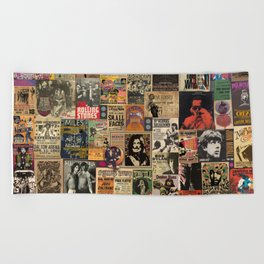 Rock'n Roll Stories Beach Towel