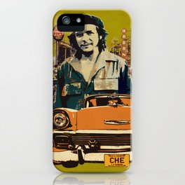Retro Cuba design with car & Che Guevara iPhone Case