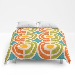 Mid Century Modern Solar Flares Pattern 2 Comforters