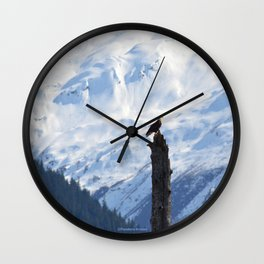 Perch With A View - V Wall Clock