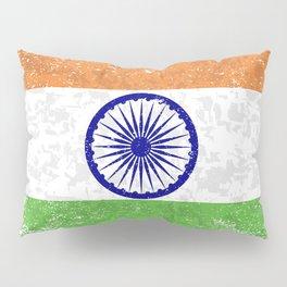 Flag of India Grunge Pillow Sham