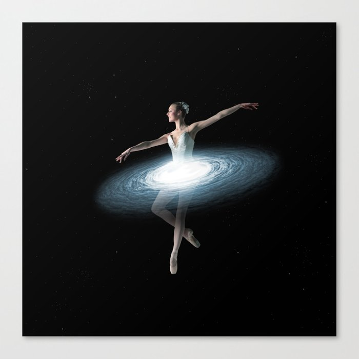 Galactic dancer Canvas Print