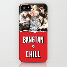 BANGTAN & CHILL iPhone Case
