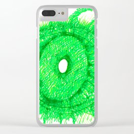 Green Eye Clear iPhone Case