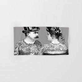 Tattooed Victorian Lovers | Tattooed Couple | Vintage Tattoos | Victorian Tattoos | Victorian Gothic Hand & Bath Towel