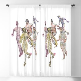 Naked Runners 2 Blackout Curtain