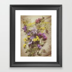 Flowers from the meadow Framed Art Print