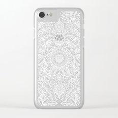 Enchanted Indigo - watercolor + doodle Clear iPhone Case