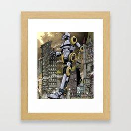 Steampunk Automaton Framed Art Print