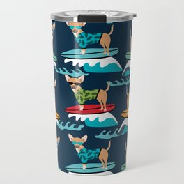 chihuahua pattern surfing cute pet gifts dog lovers chihuahuas Travel Mug