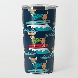 chihuahua pattern surfing cute pet gifts dog lovers chihuahuas Travel Mug