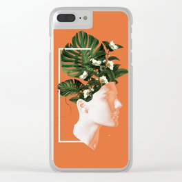 minima Lady Flowers Clear iPhone Case