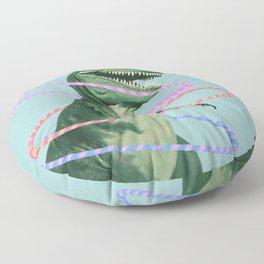 T-Rex the Hula Dancer in Green Floor Pillow