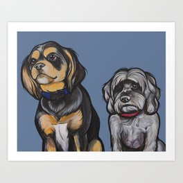 Charlie and Max Art Print