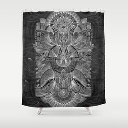 Etched Offering II Shower Curtain