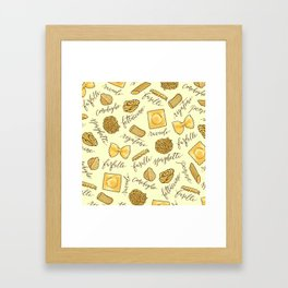 Know Your Pasta Framed Art Print