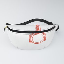 Vintage American Flag and Piston, Muscle Car Hoodie Fanny Pack