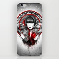 lily iPhone & iPod Skins featuring Lily by Marine Loup