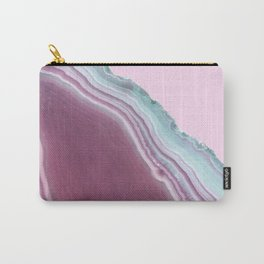 Geode Pink + Turquoise Carry-All Pouch