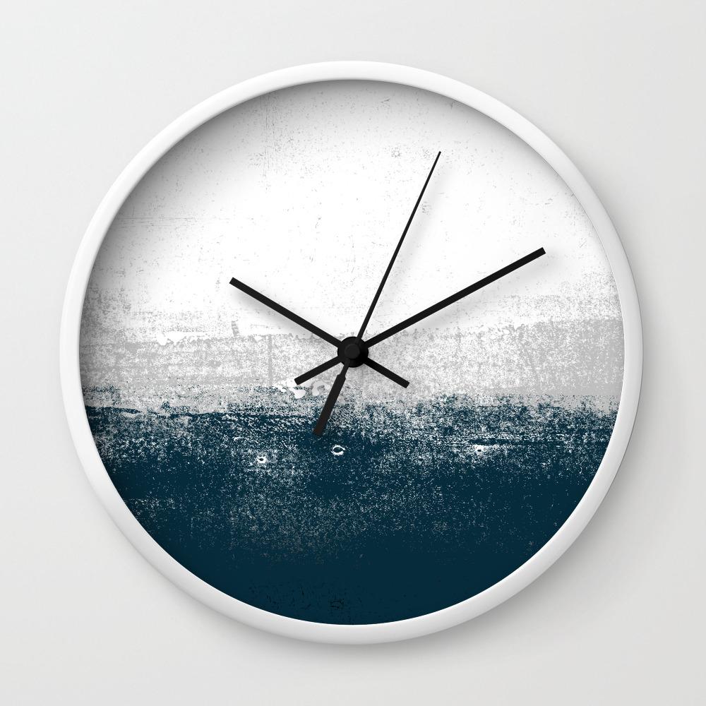 Ocean No. 12   Minimal ocean sea ombre design Wall Clock by andrealauren