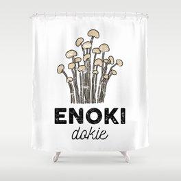 Enoki Dokie Shower Curtain