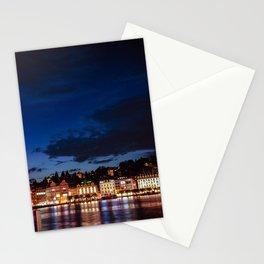 Lucerne by night Stationery Cards