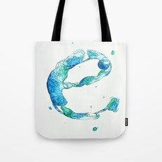Blue 'E' Tote Bag