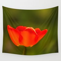 tulip Wall Tapestries featuring Tulip by Bruce Stanfield