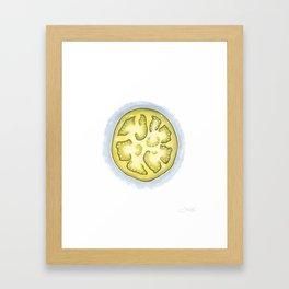 Green Tomato Watercolor Print Framed Art Print