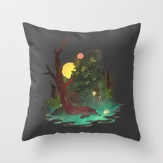 Headless Hunter Throw Pillow