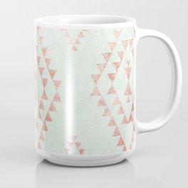 mint & coral tribal pattern Coffee Mug