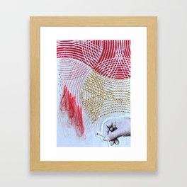 The Embroiderer Framed Art Print