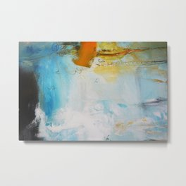 Blue Abstract painting Print  Metal Print