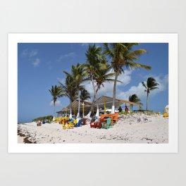 Beach Time, Anegada, BVI  Art Print