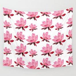 Pink Lotus Flower Wall Tapestry