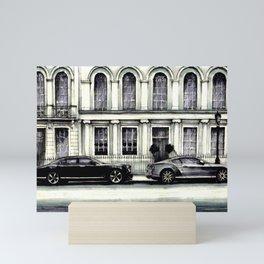THE STREET OF LONDON IN GREYS Mini Art Print