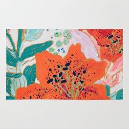 Orange Lily Rug