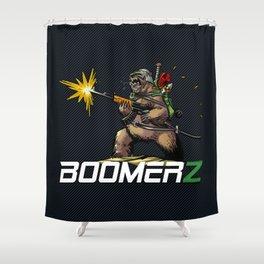 Boomerz Killer bear Shower Curtain