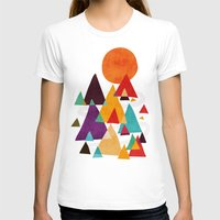 mountains T-shirts featuring Let's visit the mountains by Picomodi