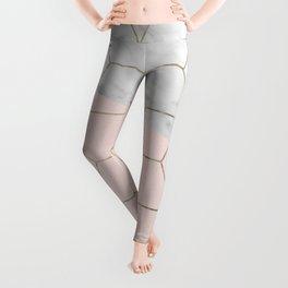Florence dreams - marble geometric Leggings