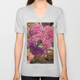 Bee and Sedum Unisex V-Neck