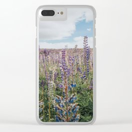 Lupins of Lake Tekapo Clear iPhone Case