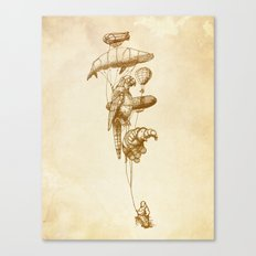 The Helium Menagerie (sepia) Canvas Print