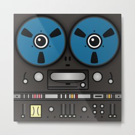 reel tape recorder Metal Print