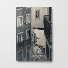 Alfama, Lisbon III (B&W) Metal Print