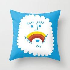 FRIENDLY CLOUDY Throw Pillow