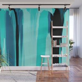 Soft Determination Aquamarine Wall Mural