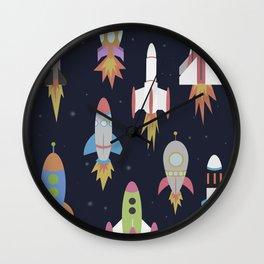 Rockets! Wall Clock