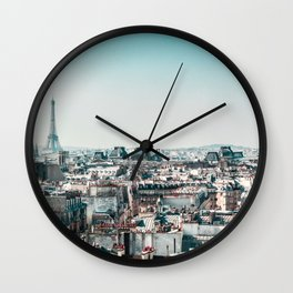 I <3 parisian rooftops. Wall Clock